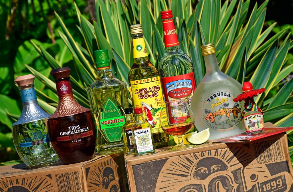 Tequilas van het huis.